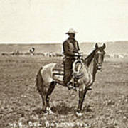 Wyoming: Cowboy, C1883 Art Print
