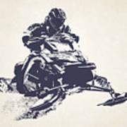 X Games Snowmobile Racing 2 Art Print