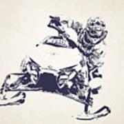 X Games Snowmobile Racing 5 Art Print
