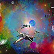 X-wing Fighter Art Print