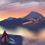 X-wing On The Horizon Art Print