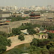 Xi'an City Wall With Skyline Art Print