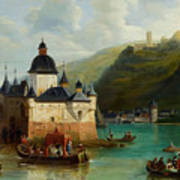 Xixth Century French School Pfalzgrafenstein Castle Art Print