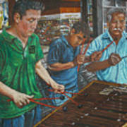 Xylophone Players Art Print by Jim Barber Hove