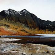 Y Lliwedd Ridge From Lake Llyn Llydaw Art Print