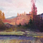 Yaak Cabin Art Print