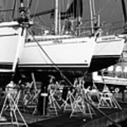 Yachts On Drydock Art Print