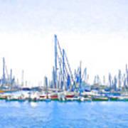 Yachts Simon Art Print by Jan Hattingh