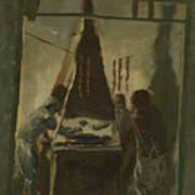 Yakovlev, Alexander 1887-1938 Merguez Seller In Tunis Art Print