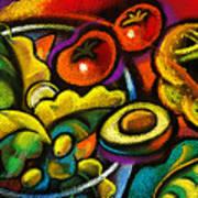 Yammy Salad Art Print by Leon Zernitsky