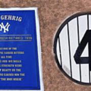 Yankee Legends Number 4 Art Print