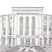 Yankee Stadium Art Print by Juliana Dube