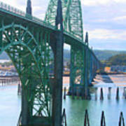 Yaquina Bay Bridge Br-9002 Art Print