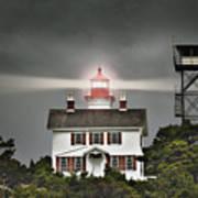 Yaquina Bay Lighthouse Art Print
