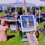 Yard Sale Day Art Print