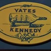 Yates Kennedy Sign Provincetown Art Print