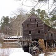 Yates Mill In Winter Art Print