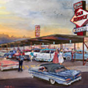 Yaw's Top Notch Drive In Art Print by Mike Hill