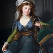 Yekhaterina Vasilievna Engelhardt, Countess Skavronskaya, Later Countess Litta E. Vigee-lebrun Art Print