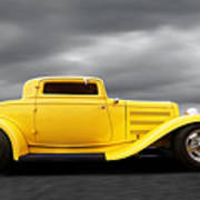Yellow 32 Ford Deuce Coupe Art Print