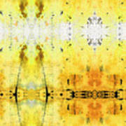 Yellow Abstract Art - Good Vibrations - By Sharon Cummings Art Print