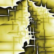 Yellow And Black 4 Art Print