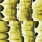 Yellow And Black 6 Art Print
