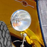 Yellow And Blue Hot Rod Headlight Art Print