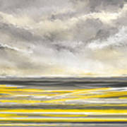 Yellow And Gray Seascape Art Art Print