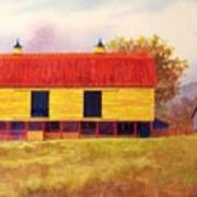 Yellow Barn Art Print