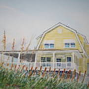 Yellow Beach House Wrightsville Beach Art Print