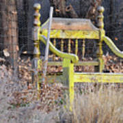 Yellow Bench Art Print