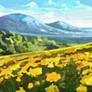 Yellow Blanket Art Print