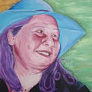 Yellow Blue Green Christine Art Print