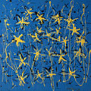 Yellow Blue Art Print