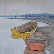 Yellow Boat 1 Art Print