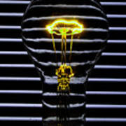 Yellow Bulb Art Print