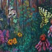 Yellow Butterfly Perched Art Print