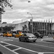 Yellow Cabs By The United Nations, New York 3 Art Print