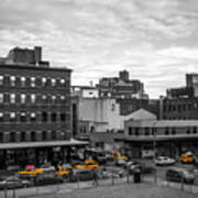 Yellow Cabs In Chelsea, New York 2 Art Print
