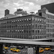Yellow Cabs In Chelsea, New York 3 Art Print