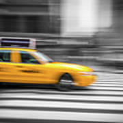 Yellow Cabs In New York 6 Art Print