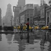 Yellow Cabs New York Art Print