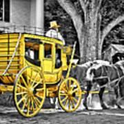 Yellow Carriage Art Print