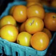 Yellow Cherry Tomatoes Art Print