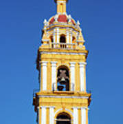 Yellow Church And Blue Sky Art Print