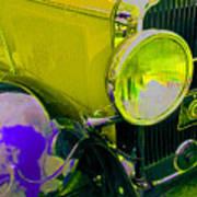 Yellow Cloud Reflection In Neon Art Print