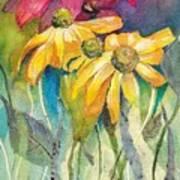Yellow Coneflower Art Print