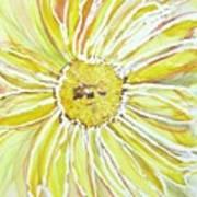 Yellow Daisy Portrait Art Print