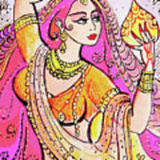 Yellow Devi Art Print